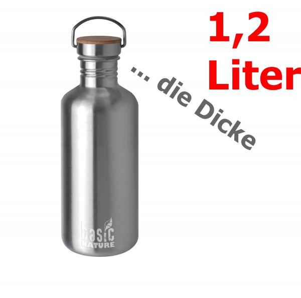 BasicNature Trinkflasche Active 1,2 Liter matt