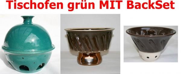 Tischofen gross MIT Backset ... gruen