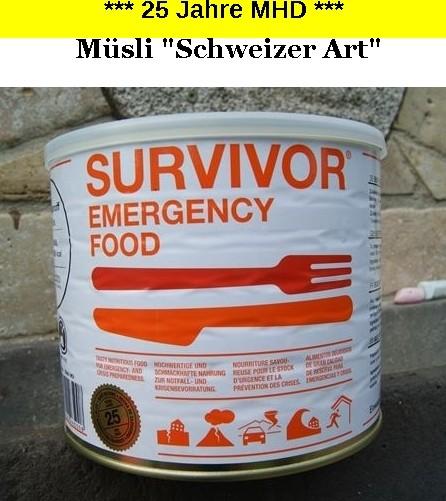 1 x SURVIVOR® Emergency Food MÜSLI schweizer Art