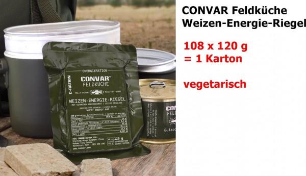 CONVAR Feldküche Weizen-Energie-Riegel salty ... military grade 108 x 120 g = 1 Karton