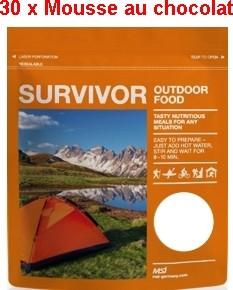 30 x Survivor® Outdoor Food Mousse au Chocolat