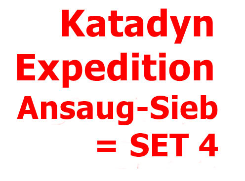 KATADYN Expedition Ansaug-Sieb komplett = SET 4