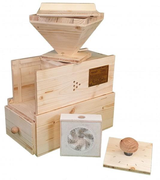 Widu Mühlenbau Universalmühle Modell 3 Fichte MIT Kurbel und Ritzel