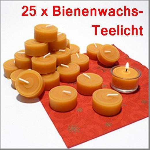 KOENIGS Bienenwachs Teelichter 25 Stück