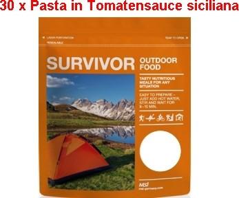 30 x Survivor® Outdoor Food Pasta in Tomatensauce Siciliana