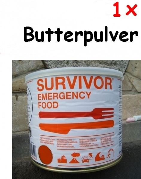 1 x SURVIVOR® Emergency Food Butterpulver