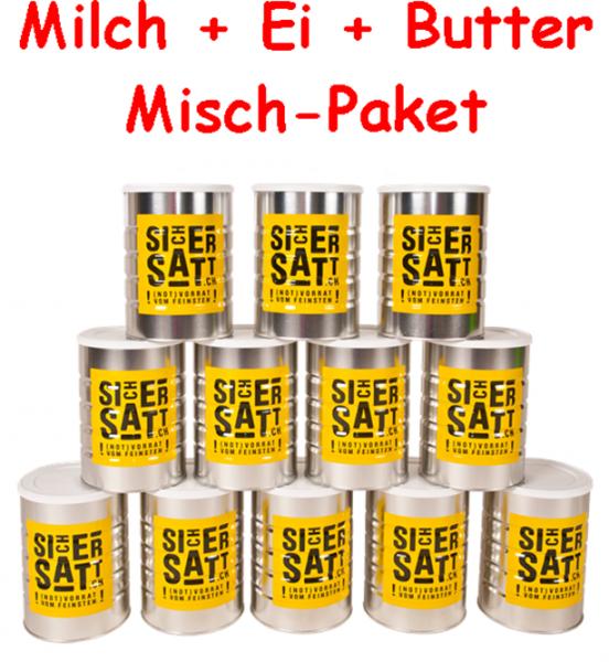 SicherSatt Milch + Ei + Butter Mischpaket
