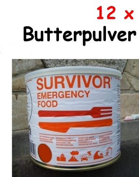 12 x SURVIVOR® Emergency Food Butterpulver