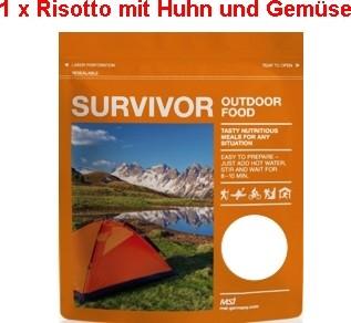 1 x Survivor® Outdoor Food Risotto mit Huhn und Gemüse