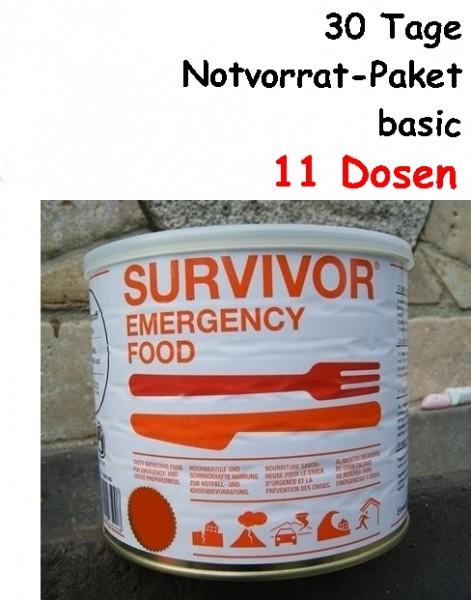 SURVIVOR Emergency Food 30 Tage Notvorrat-Paket basic
