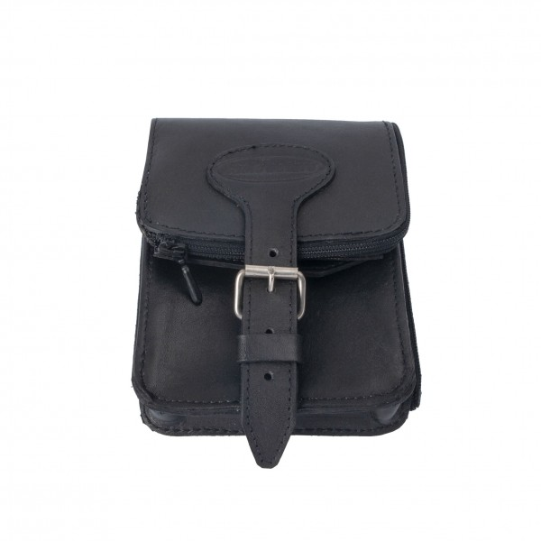 BASIC NATURE Leder-Gürteltasche Belt Safe (schwarz)